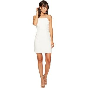 NWT Kensie Texture Crepe Dress with Lace Back